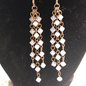 Sterling silver .925 and white crystals earrings